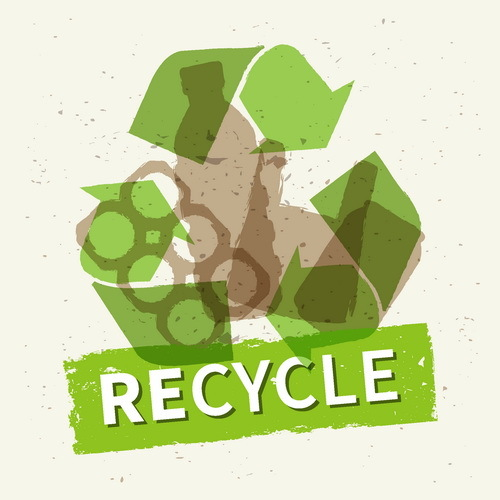 Recycle grunge background vector