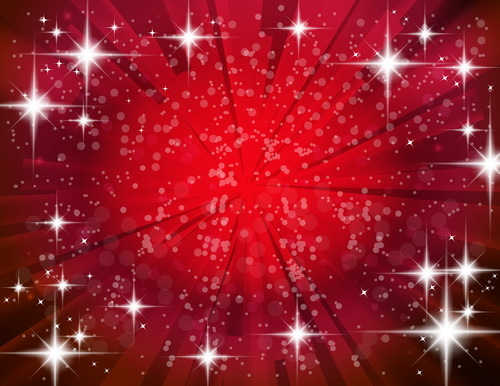 Red background with shiny star light vector