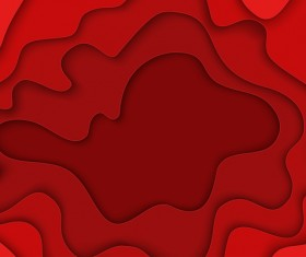 Red layered frame background vector