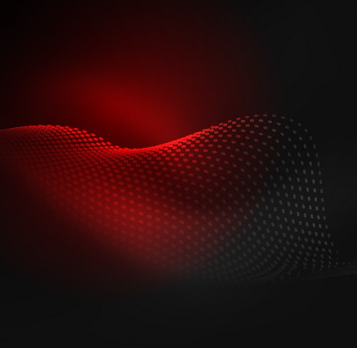 Red wavy background abstract vector 01