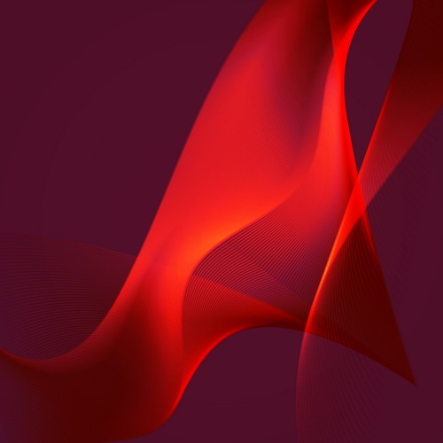 Red wavy background abstract vector 04