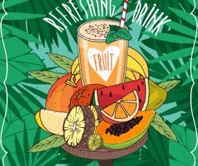 Refreshing drink poster vector