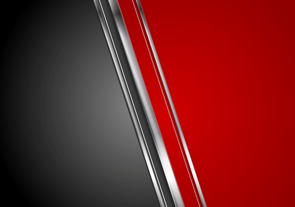 Rlack red metal background vector