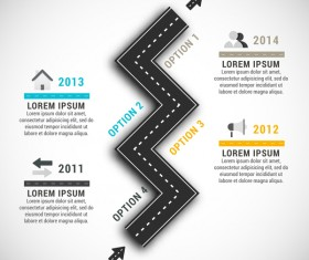 Road with traffic infographic template vector