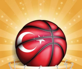 Rurkish basketball golden background vector