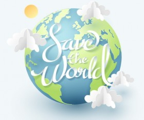 Save world background vector
