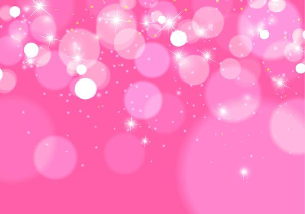 Shiny pink bokeh vector background