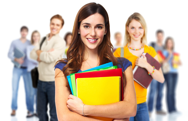 Smile college student Stock Photo free download
