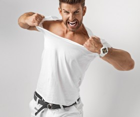 Smiling lively young man Stock Photo 10