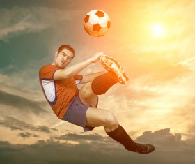 Soccer player Stock Photo 05