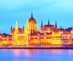 Splendid Budapest Parliament House Stock Photo