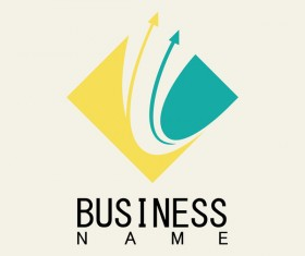 Square arrow business logo vector