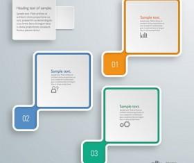 Square infographic modern design vector 01