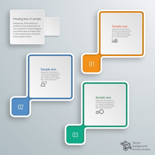 Square infographic modern design vector 01