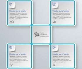 Square infographic modern design vector 02