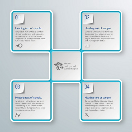 Square infographic modern design vector 02