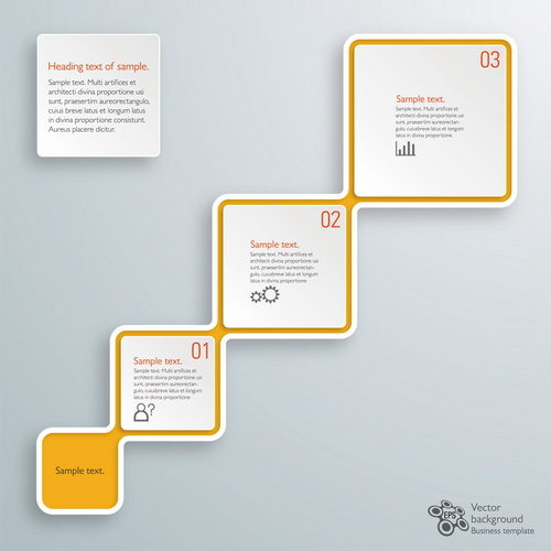 Square infographic modern design vector 03