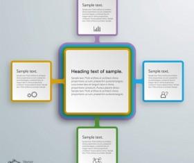 Square infographic modern design vector 04