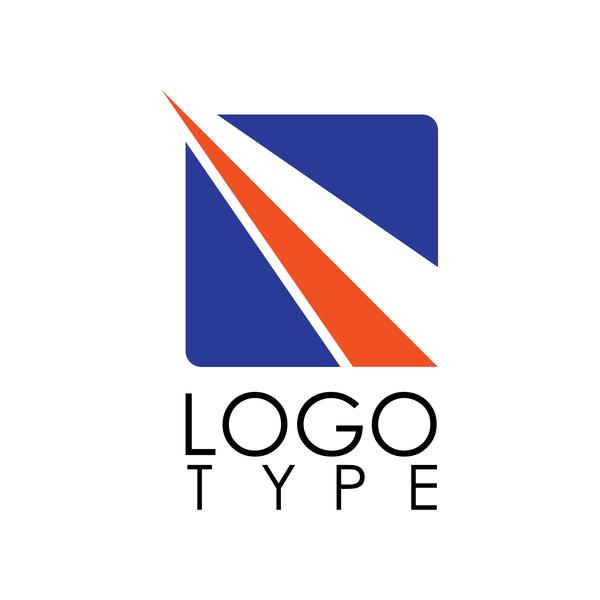 Square stripe logo vector