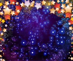 Star light with festival halation background vectors 02