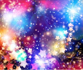 Star light with festival halation background vectors 03
