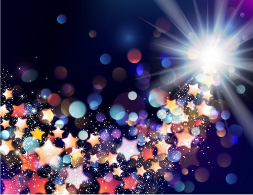 Star light with festival halation background vectors 04