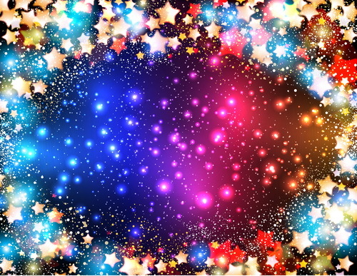 Star light with festival halation background vectors 05