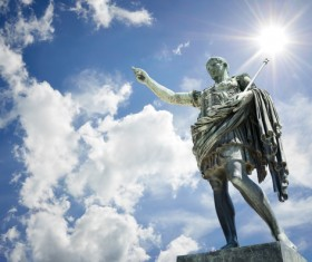 Statue of Augustus in Rome Italy Stock Photo