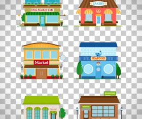Store illustration vector set 01
