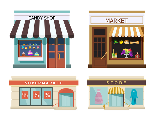 Store illustration vector set 02
