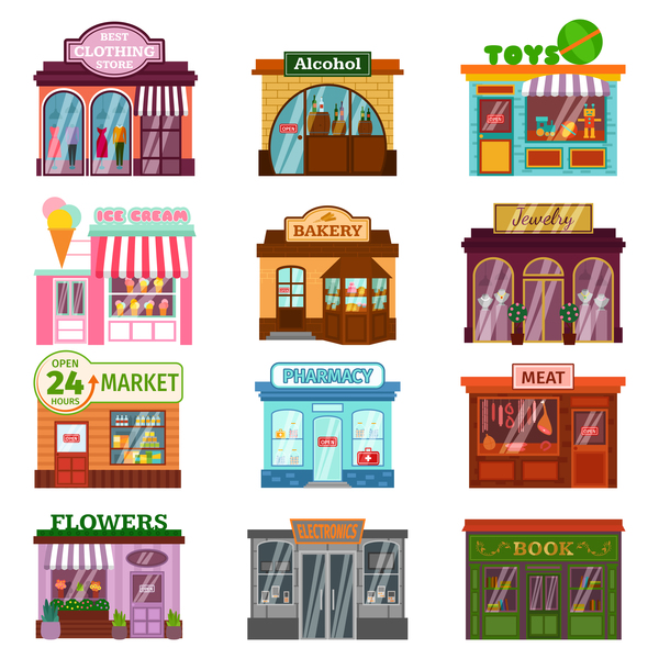 Store illustration vector set 03