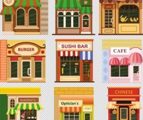Store illustration vector set 04