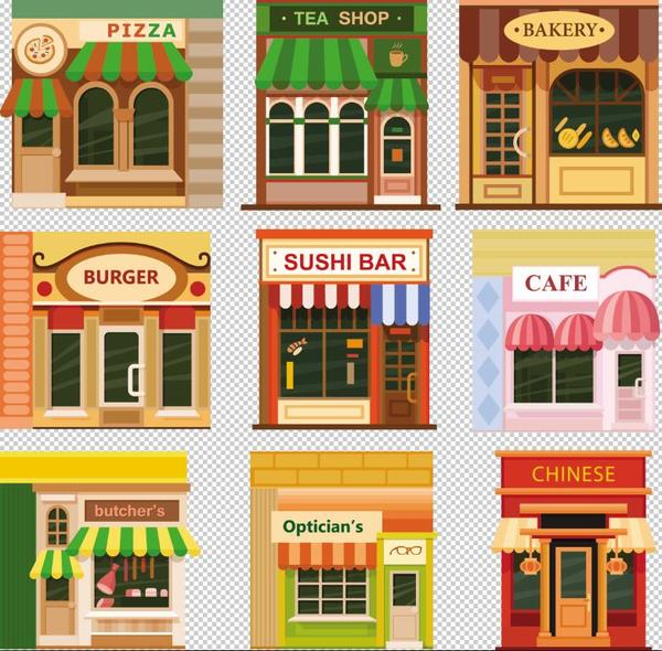 Store illustration vector set 04