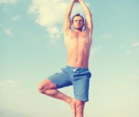 Stretching men Stock Photo 01