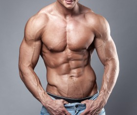Strong sport fitness man Stock Photo 01