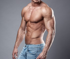 Strong sport fitness man Stock Photo 02