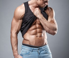 Strong sport fitness man Stock Photo 03