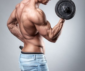 Strong sport fitness man Stock Photo 04