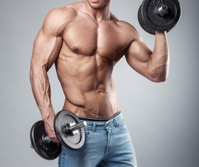 Strong sport fitness man Stock Photo 05