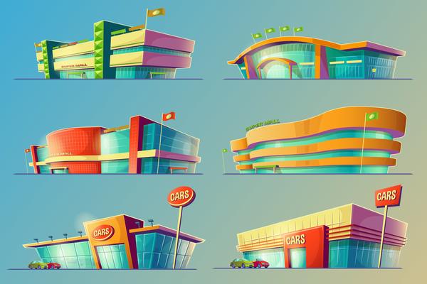Super mall illustration vector