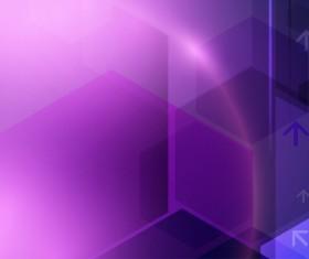Technology geometric concept vector purple background