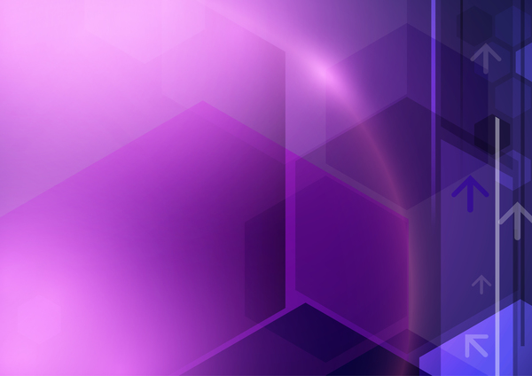 Technology geometric concept vector purple background