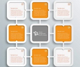 Text infographic illustration vector 08