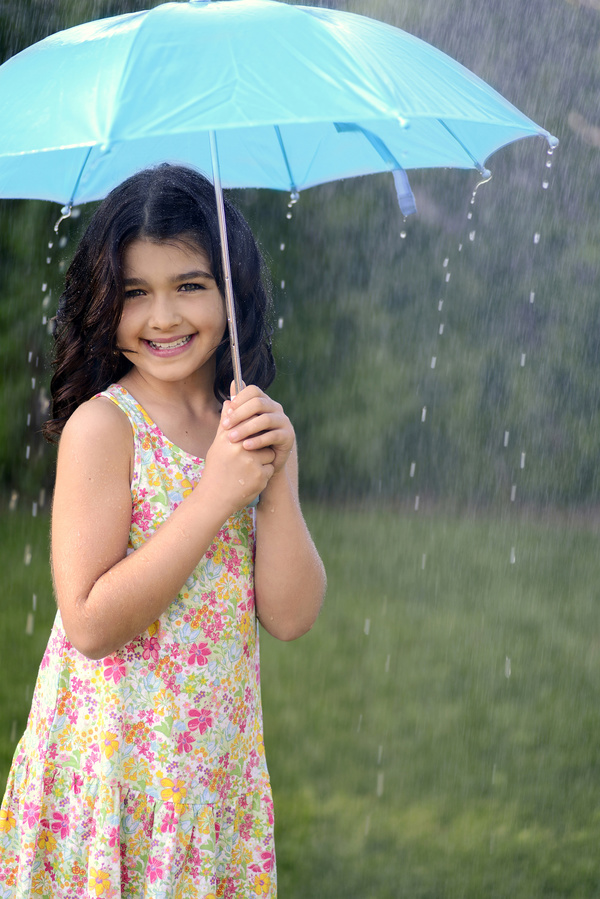 Girl Holding Umbrella Stock Images RoyaltyFree Images