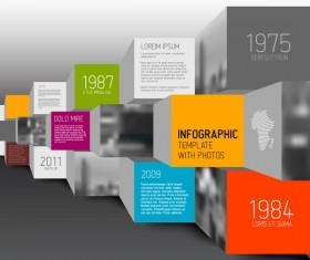 Timeline schody business template vector