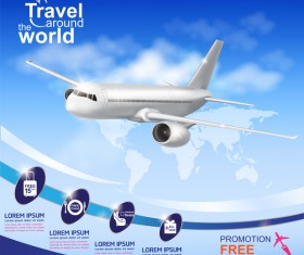 Travel around the world business template vector 09