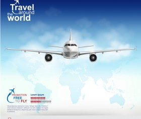 Travel around the world business template vector 10