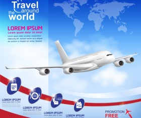 Travel around the world business template vector 11