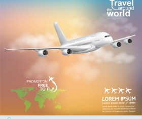 Travel around the world business template vector 15