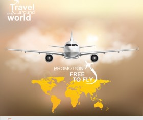 Travel around the world business template vector 16